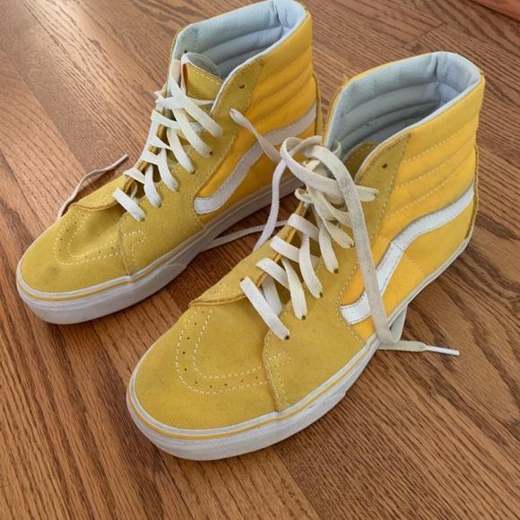 Yellow High Top Old Skool Vans   Poshmark